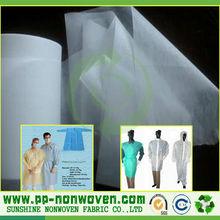 tnt textile fabric for disposable medical coat, disposable non woven