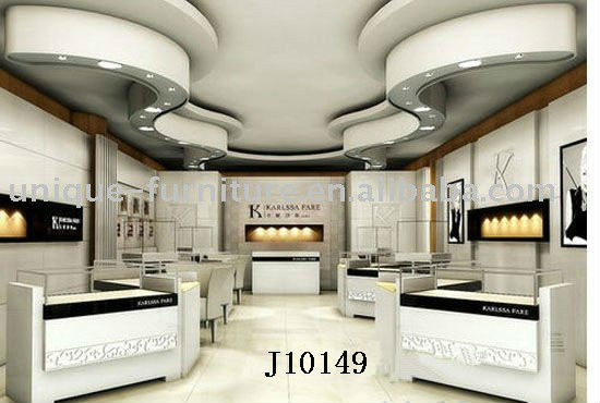 Jewellery showroom interior display cabinets design with led lights ...