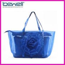 2013 new summer mesh bag rose decoration(bag in bag)
