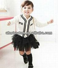 KOREAN WHITE AND BLACK LACE SET DRESS FOR GIRL