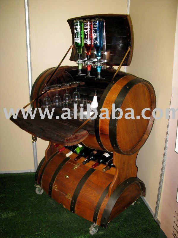 Barril lleno de barra horizontal for Bar barril de madera