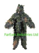 3d de camuflaje de hojas trajes ghillie