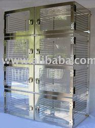 Nitrogen Dry Box, Desiccator Cabinet, Eight Chamber