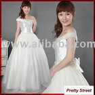 Beautiful Modern Wedding Dress Bridal Gown F96