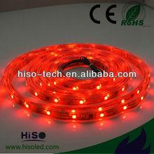 High lumin 450lm SMD5050 Waterproof LED Red Led Strip 12V
