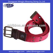 heavy duty cotton canvas web belt with eyelets