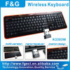 Hight quality 2.4G compact wireless keyboard with CE/ROHS/FCC ID