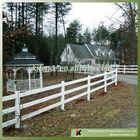 Vinyl cattle fence