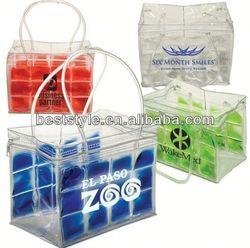 New design custom colored pvc wine cooler plastic bag