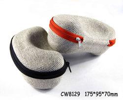 Eyewear zipper case (EVA sunglasses case) aluminum fabric eyeglass cases