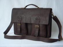 Leather Briefcase Business Case Messenger Bag Laptop Case