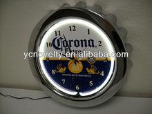 lighted table clocks/table clock skeleton clock