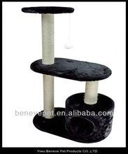 Black Cat Tree Level Condo Pet Play House