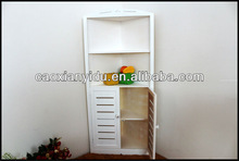 company direct sales white wooden corner cupboard with low price