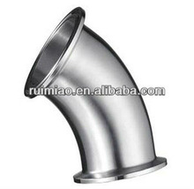 sanitary 304l polished stainless steel sampling elbows