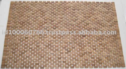 Teck bois tapis de bain tapis de salle de bain id du for Tapis salle de bain bois