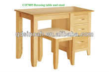 3 drawer dressing table with stool/solid oak dresser/bedroom sets