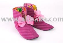 Pink slipper boots