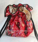 Bulk production designs fashional custom made satin organza bags pouches