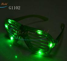 4pcs color led shutter glass light party