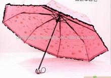 High quality trendy tropical flower shapes folding umbrella