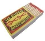 Scissor Safety Matches (Slim Size)
