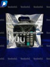 high quality transparent resealable aluminum foil ziplock bag with zip/window/hanger hole/transparent plastic bag for accessory