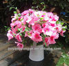 AF309-O pink silk and plastic artificial hydrangea branch flowers real-touch