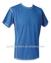 100 polyester t shirts/blank t-shirtMen's 100% polyester t shirt, Hot wholesale blank t-shirt