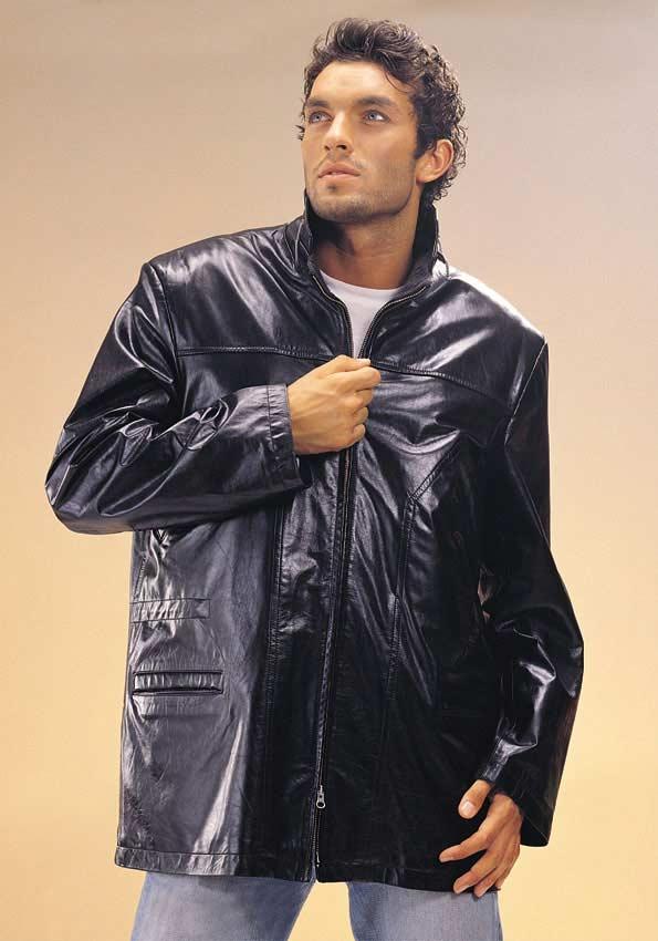 leather jacket men. Men Lamb Leather Jacket(Turkey