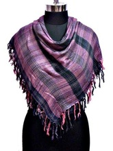 Viscose Check Scarf