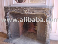 old reclamed fireplace