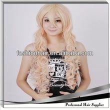 2014 China fashion Cosplay wig,Brazilian virgin hair,Yiwu hair fluffy hair wig
