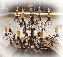 Mexican iron chandelier lighting