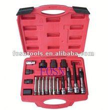 2014 Alternator Freewheel Pulley Removal Set 18pcs Alternator Car Tools Set electromagnetic clutch