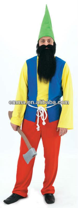 anao de jardim resumo: panto pantomime gnomo de jardim anão elf fantasia vestido traje cc198