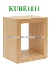 solid oak display cube/cube shelf/livingroom furniture