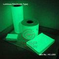 Película fotoluminescente hc-l600c brilham no escuro adesivos de fita