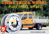 Tube steel wheel for TBR tyre