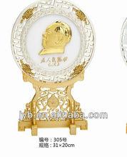 plastic ps souvenir blank plates metal/aluminum plates whilesale