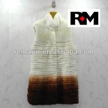 Fashion Rex rabbit fur vest