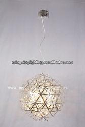 Hanging chrome ball pendant lamp 11727-8 chrome