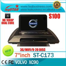 A8 Chipset S100 platform car radio Distributor for volvo xc90 with 3G WIFI GPS /BT/TV/Radio/20 Disc CDC/IPOD/3-Zone POP/3D Flash