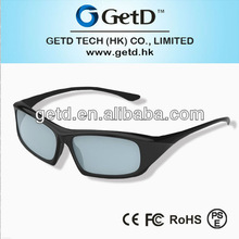 Reusable circular polarized glasses for 3d movies---CP400G64R