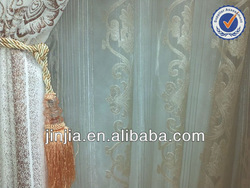 M3150 latest designs of curtains turkish curtain voile panel silk effect curtain