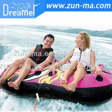 Inflatable water ski tube, water sport, towable ski tube