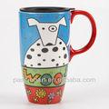 Pasión lindo del arte del diseño del perro taza de viaje de cerámica modelo CMA3124