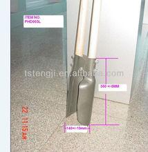 two wooden handle pala shovel