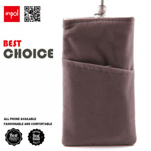 funky durable velvet mobile phone pouch for iphone 5 with earpohone collection