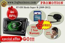 car navigator Skoda Superb 2009-2013with GPS/BT/RADIO/DVD/SD/USB/IPOD/IPHONE/CANBUS/Steering wheel control/Dual zone/DVB-T